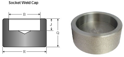 Socket weld pipe cap Dimensions